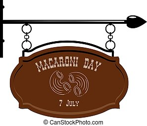makaróny, den, ulice, ručička