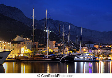 makarska city, croatia