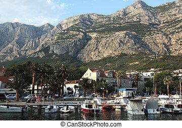 Makarska Croatia - view at Makarska in Croatia