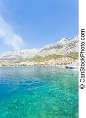 makarska, dalmatien, kroatien, -, besuchen, der, schöne , bucht, von, makarska