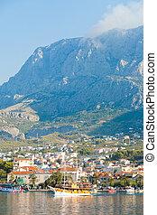 makarska, dalmatien, kroatien, -, leben, gleichfalls, schöne , an, riviera, von, makarska