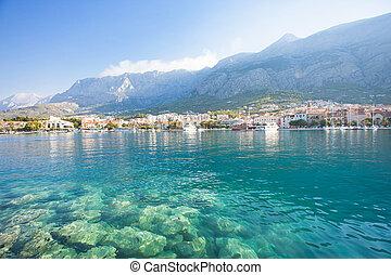 makarska, dalmatien, kroatien, -, natur, gleichfalls, schöne , an, der, kuesten, von, makarska