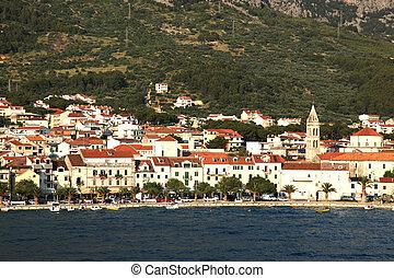makarska, kroatien, hafen