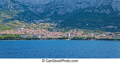Makarska panorama - Panorama of the city of Makarska ...