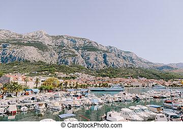 makarska riviera croatia background. Dalmatia region. ...