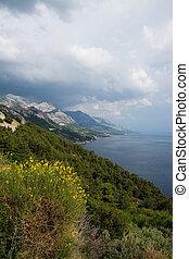 makarska, riviera, dalmatien, kroatien