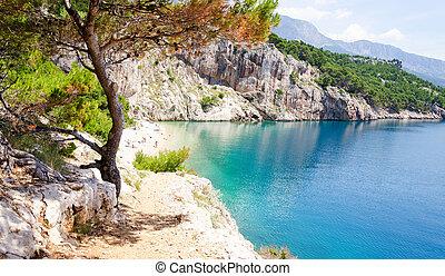 makarska, riviera, erstaunlich, kroatien, sandstrand, dalmatien