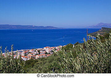 Makarska Riviera in Dalmatia, Croatia, popular summer holiday resort in Europe with crystal clear water and sunny weather