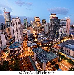makati , γραμμή ορίζοντα , - , philippines), (manila