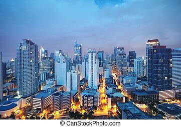 makati, contorno, -, philippines), (manila