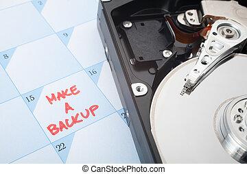 Make a backup reminder - Make a backup of hard disk...