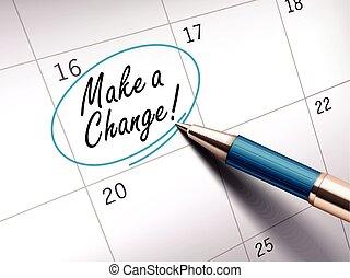 make a change words