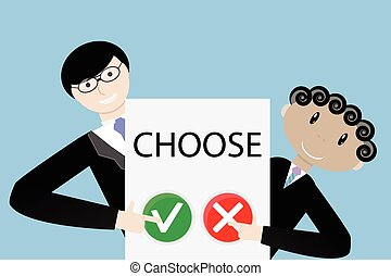 Make a choice concept
