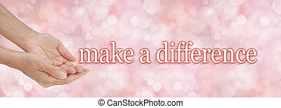 Make a difference campaign banner