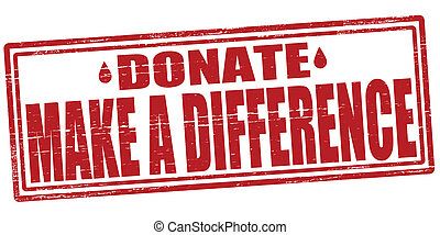 Make a difference - Stamp with text make a differene...
