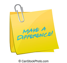 Make a difference illustration design over a white ...