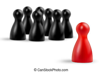 make a difference - red pawn in the foreground and blurred...
