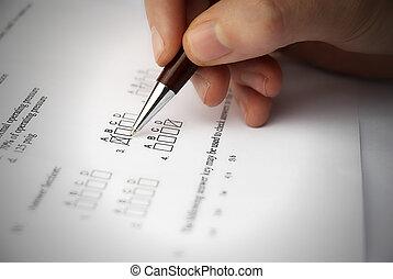 make a test esam - Make a test exam with multiple choose