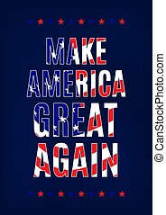 Make America great again card template illustration