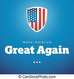 Make America Great Again vector banner - Make America Great...