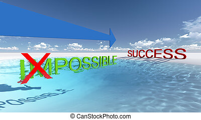 Make it possible. Way to success