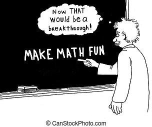 Make Math Fun - Education cartoon about a breakthrough: make...