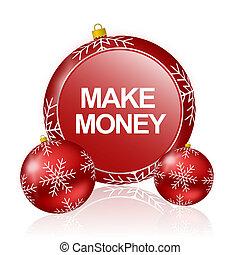 make money christmas icon