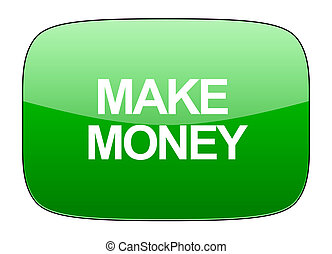 make money green icon