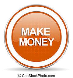 make money orange icon