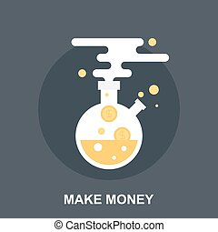 Make Money - Vector illustration of make money flat design...