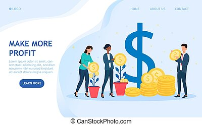 Make More Profit in business concept