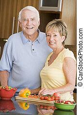 make och hustru, förberedande, grönsaken