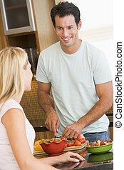 make och hustru, förberedande middag