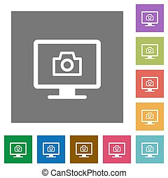 Make screenshot flat icons on simple color square backgrounds
