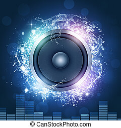 Make Some Noise - sound speakermusic background for disco...