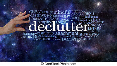 Make space in your life and declutter