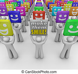 Make Them Smile Words People Happy Good Moods