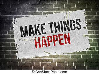 Make things happen - poster concept
