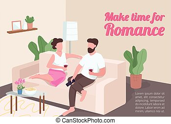 Make time for romance poster