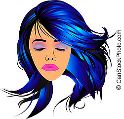 Make up and hair graphic