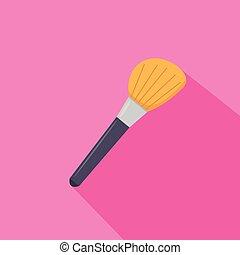 Make Up Brush from beauty salon. Vector illustration.