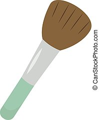 Make up brush, illustration, vector on white background.