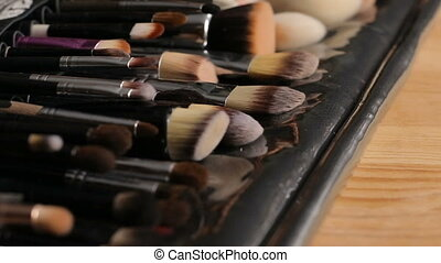 Make-up brushes collection - Collection of brushes for...