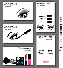 make up business cards set