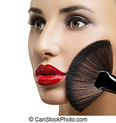 make-up, closeup., makeup.
