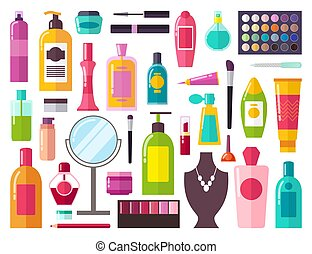 Make Up Collection of Items Vector Illustration