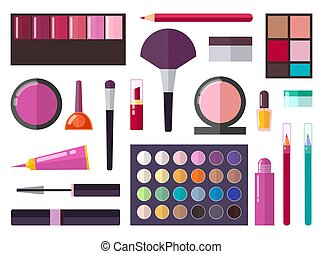 Make Up Collection Poster Vector Illustration