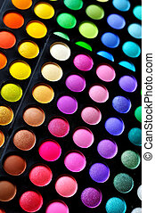 eyeshadow palette - Make-up colorful eyeshadow palettes, as...