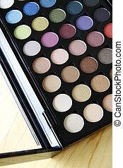 Make up colorful palette