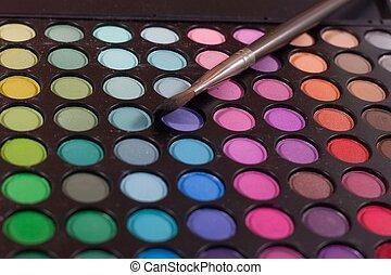 Make up set color palette